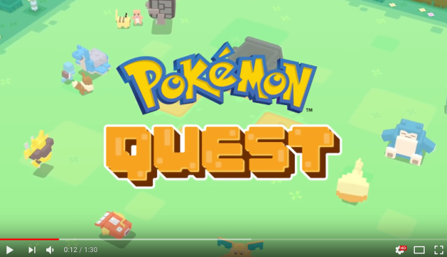 "Mobile release of Pokémon Quest celebrated with ""Real Pokémon Quest"" events and Twitter campaign"
