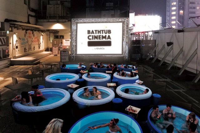 Bathtub Cinema on Shibuya rooftop is Tokyo's coolest stop for outdoor movies this summer