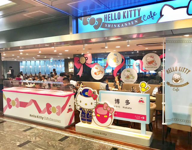 Hello Kitty Shinkansen Cafe: A delicious stop on the most kawaii bullet train in Japan