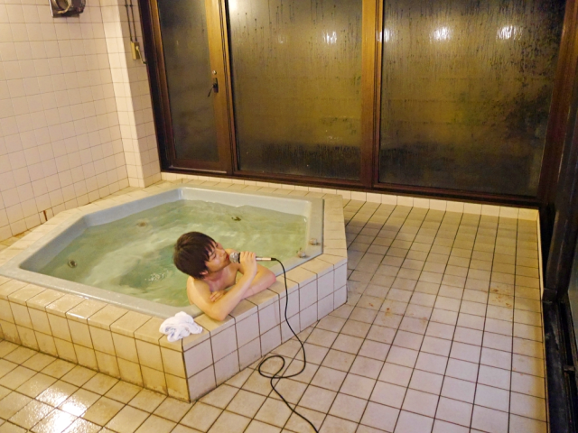A private onsen bath with a karaoke machine is two of Japan's best things with zero embarrassment