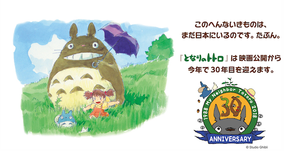 Celebrate Totoro's 30th anniversary with new and exclusive commemorative Totoro items!