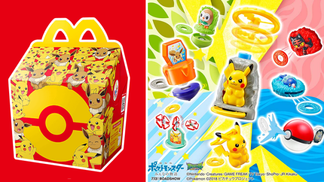 Pokémon Happy Meals from McDonlad's Japan are the happiest meals of all【Videos】