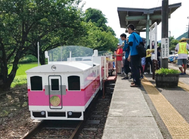 We go to Kyushu's Miyazaki Prefecture to feel like giants in (on?) a tiny party train【Photos】
