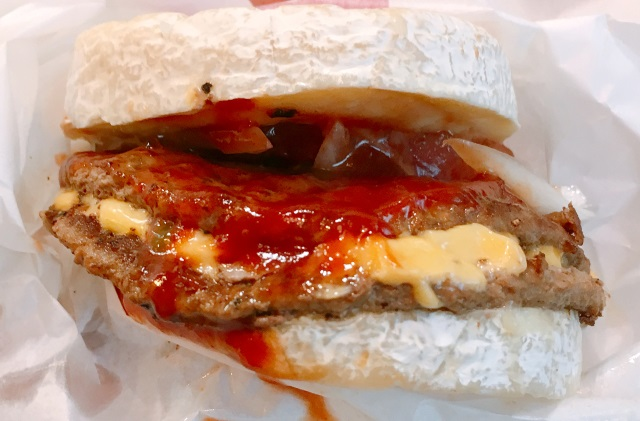 Face-to-cheesy-face with the Marugoto Camembert Burger from Dom Dom