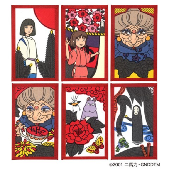 Anime Spirited Away finds a new way to be beautiful with gorgeous traditional hanafuda card set