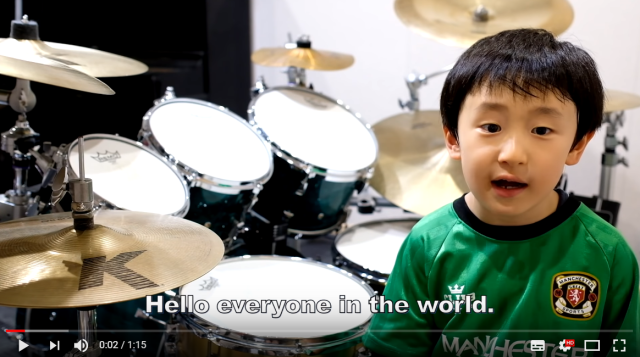 6-year-old Japanese kid Torataro kills it on the drums, helps disaster-affected areas【Vid】