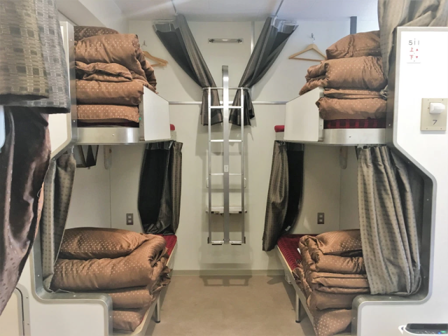 This retro-cool Japanese sleeper train is now a super-cheap hostel right in downtown Tokyo