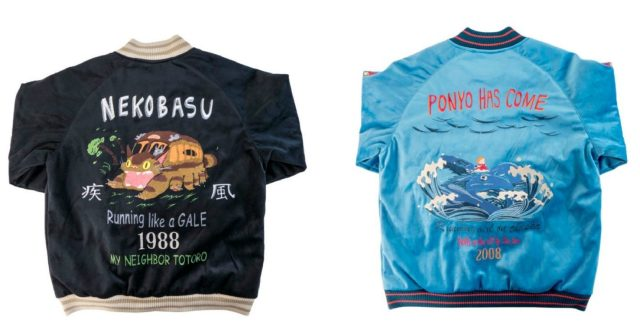 Show off your love for Ponyo and Totoro's Catbus with these Studio Ghibli baseball jackets
