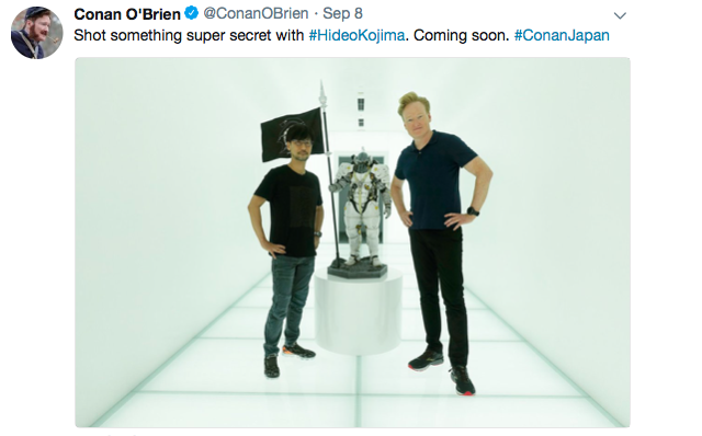 Conan O'Brien asks Hideo Kojima for a job, sings Live Band Karaoke, and says sayonara to Japan