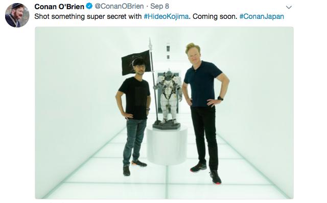 Conan O'Brien asks Hideo Kojima for a job, sings Live Band Karaoke, and says sayonara to Japan