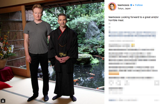 Conan O'Brien sits down for a traditional kaiseki meal with Jordan Schlansky in Japan 【Video】