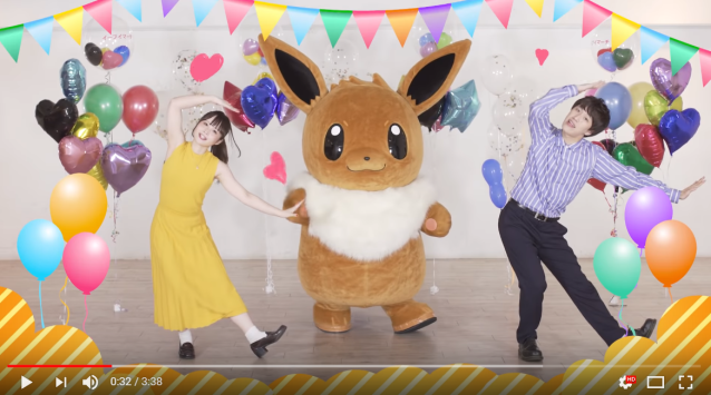 Rising Pokémon star Eevee gets her own official dance for the Project Eevee theme song 【Video】