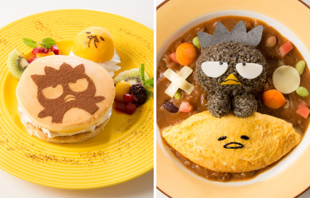 Sanrio's laziest character gets a hand from its surliest as Bad Badtz-Maru joins Gudetama Cafe