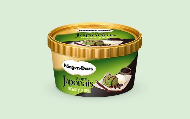 Häagen-Dazs' Matcha Azuki Kuromitsu Japonais ice cream blends green tea, red bean, black syrup