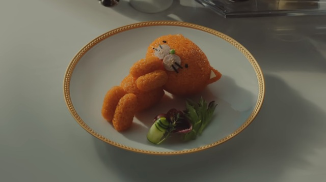 Watch X Japan's Yoshiki tuck an adorable cat mascot to bed using a blanket of golden omelet