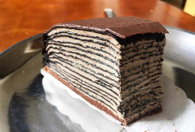 We investigate 7-Eleven's new Crunchy Chocolate Mille Crêpes Cake, shiver with decadence