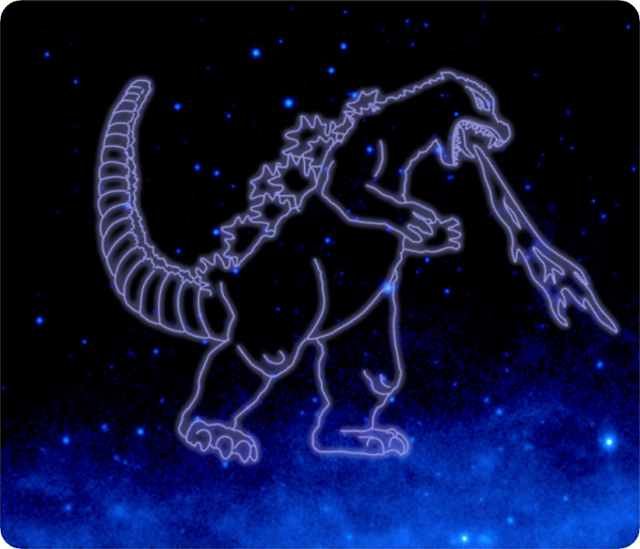 Godzilla constellation recognized by NASA as King of the Monsters claims a corner of space