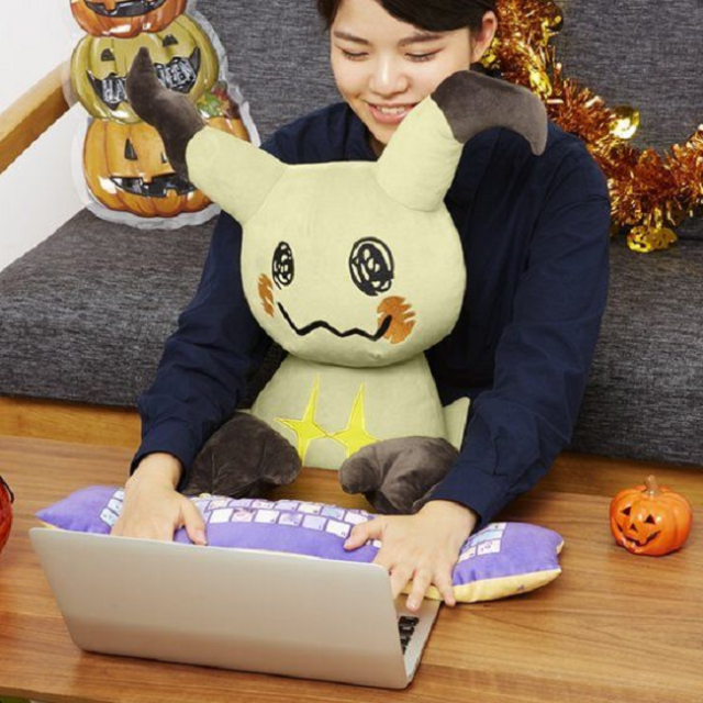 Anything Pikachu can do Mimikyu can do, including turn into an adorable PC cushion plushie