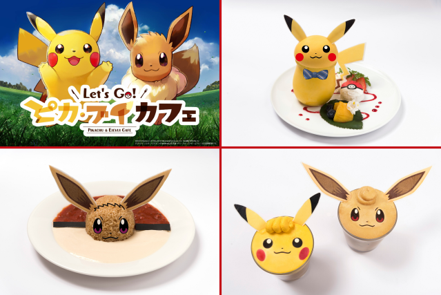 A sneak peek at the adorable food and awesome merch of the brand-new Let's Go Pikachu! cafe chain