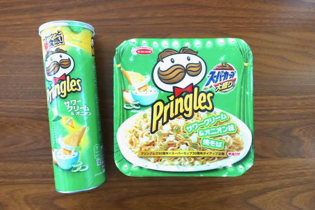 We try the new Pringles instant cup ramen and yakisoba fried noodles from Japan