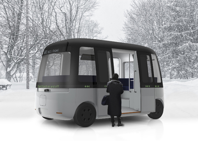 Muji designs cool all-weather self-driving shuttle bus, aims to implement it in Finland in 2020