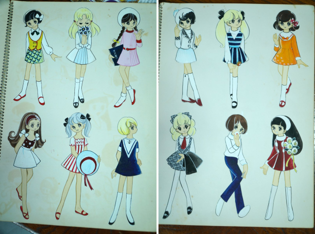 Japanese mom's sketchbook of amazing anime character designs from 50 years ago amazes daughter