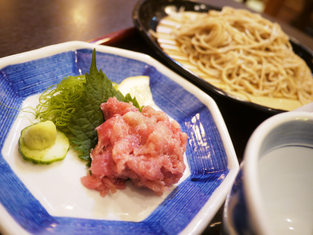 Maguro sushi meets soba noodles for a one-of-a-kind, unbelievably delicious combo in Tokyo