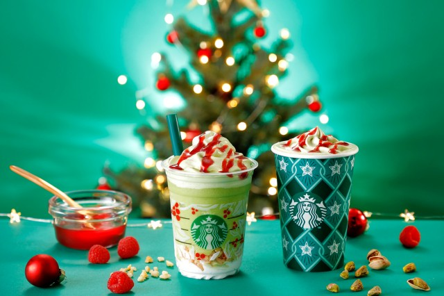 Starbucks Japan unveils new Pistachio Christmas Tree Frappuccino drinks for the holiday season