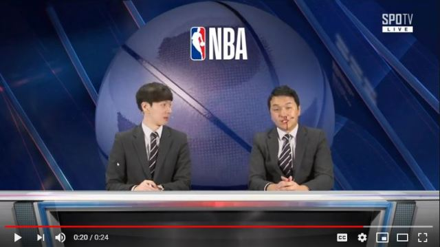Korean basketball commentator's sudden nosebleed draws laughter, admiration 【Video】