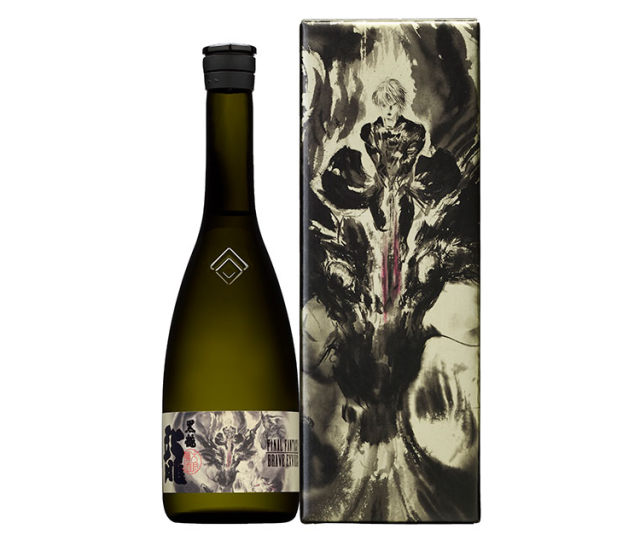 "New Final Fantasy sake from ""Black Dragon"" brewery features awesome Yoshitaka Amano illustration"
