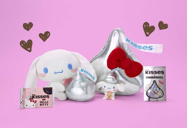 Hershey's Kisses teams up with Hello Kitty and Cinnamoroll for a cute chocolate collaboration