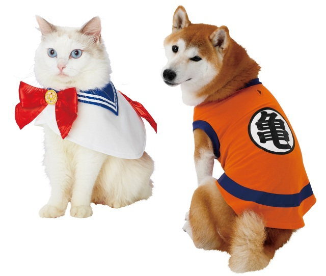 Official Sailor Moon and Dragon Ball cosplay outfits from Japan turn your pet into an anime hero