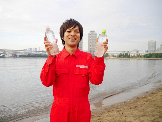 We make eco-friendly instant noodles from the water in Tokyo Bay