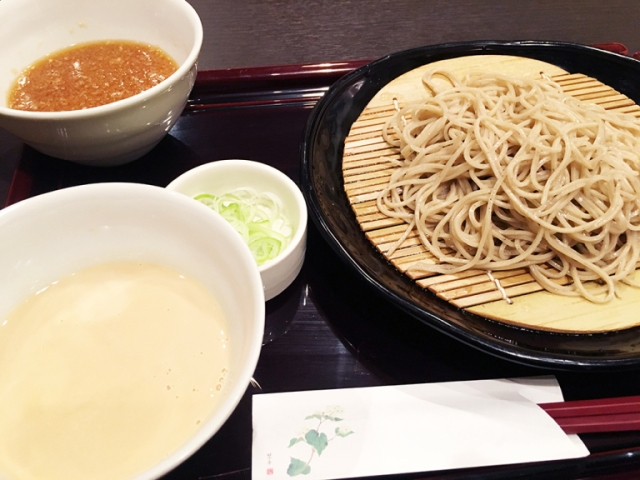 We try cold soba with a creamy and delicious soy milk broth. It's better than it sounds!