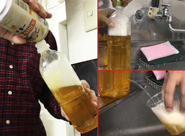 Tokyo police's lifesaving makeshift water faucet also great as a home beer dispenser