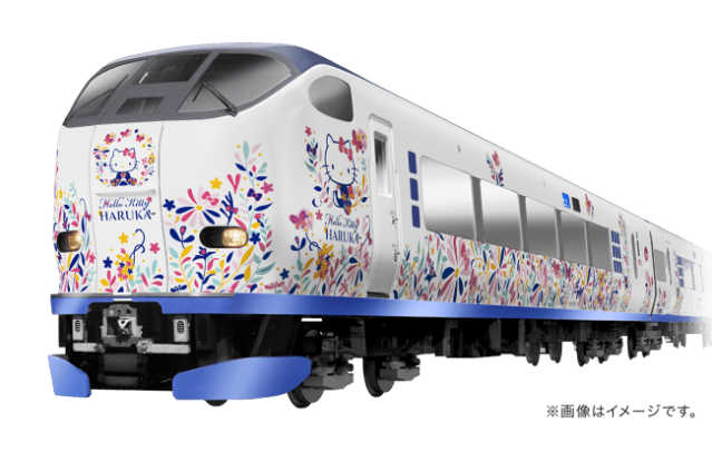 JR West teams up with Hello Kitty to clad its Kansai Special Rapid train in kawaii decals
