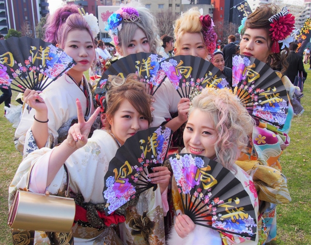 Seijinshiki 2019: Best wild kimono outfits from Coming of Age Day celebrations in Kitakyushu