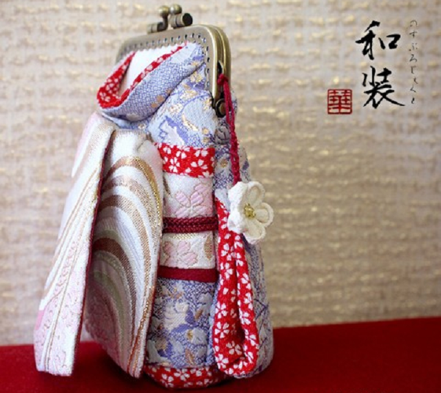 Beautiful line of Kimono Pouches let you add traditional Japanese style to any outfit