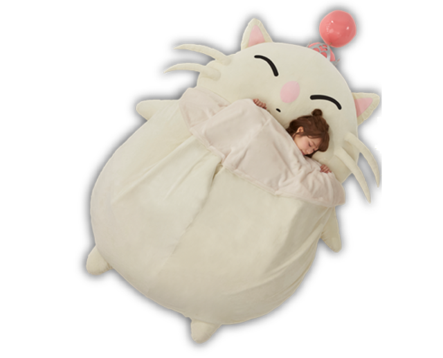 This giant Final Fantasy Moogle bed could be yours, and doesn't cost a single yen