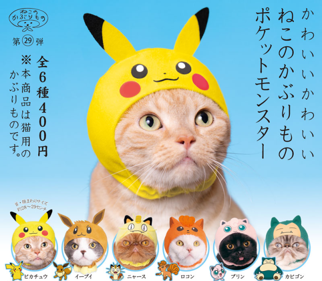 Pokémon cat cosplay hoods are now on sale, and adorable【Photos】