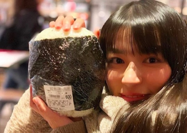 Massive 1-kilogram (2.2-pound) rice ball on sale in Japan, perfect for eating or self-defense