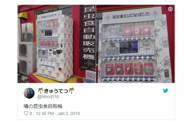 Vending machine selling edible bugs is an instant hit in Kumamoto, generates about $4,600 a month