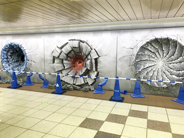 Shonen Jump's anime heroes punch huge craters in Shinjuku Station, create photo spots