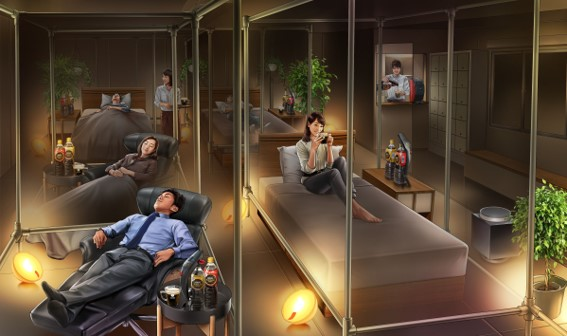 Nescafe opens permanent sleep cafe in Tokyo in time for Sleep Day, blends catnaps with caffeine