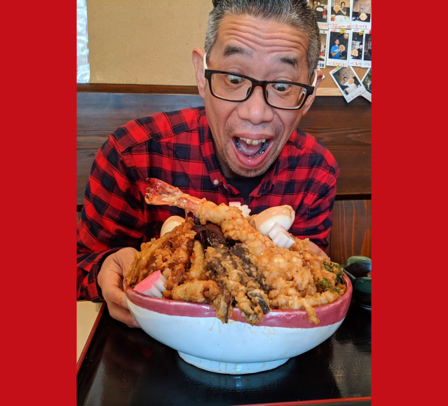 Crazy Tokyo restaurant offers a 7.3-pound tempura rice bowl, so of course we had to eat it!