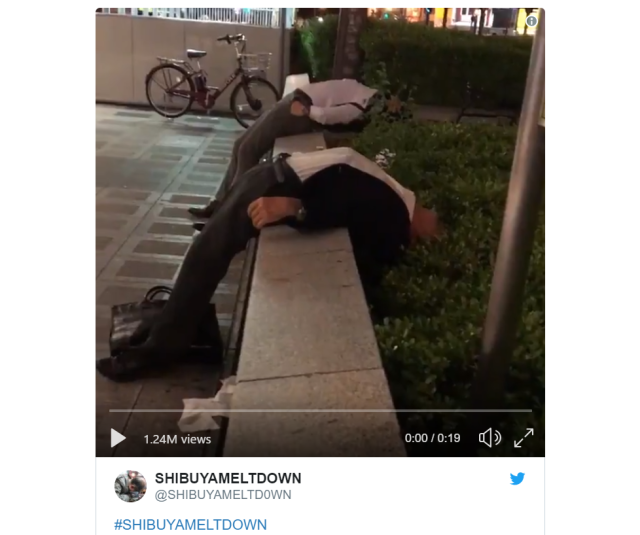 Tokyo's heaviest/sleepiest drinkers chronicled in Twitter account's photos and videos