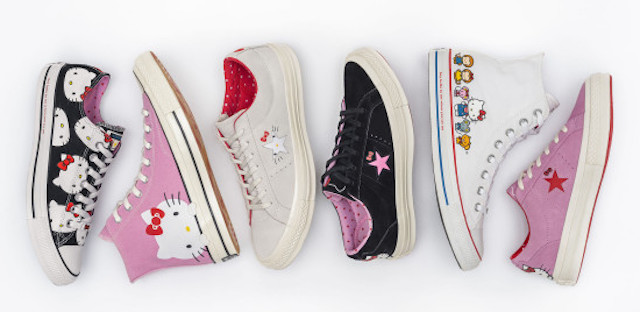 Hello Kitty gets a new job — this time appearing on Converse sneakers!