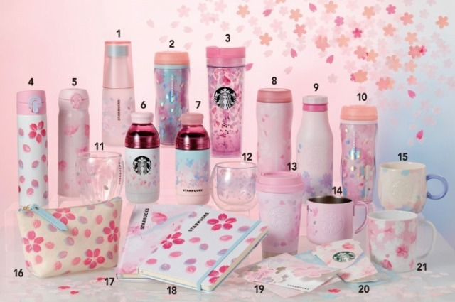 Starbucks Japan releases new cherry blossom travel mugs, glasses and goods for 2019