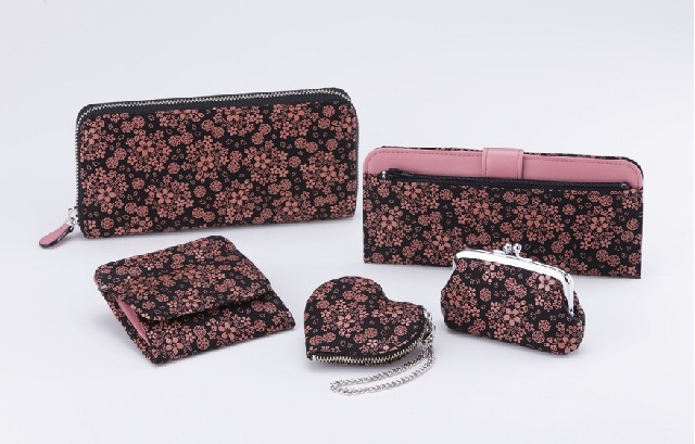 Welcome spring the Japanese way with limited-edition sakura motif deerskin purses and wallets