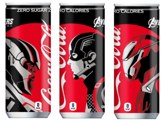 Avengers assemble for awesome Japanese Coca-Cola Endgame can series【Photos】